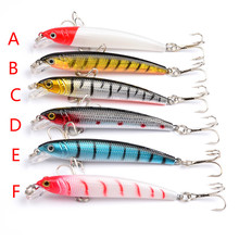 1PCS 4.6G-7.5CM bionic Minnow fishing lure crankbait hard bait lifelike 3d eye wobbler floating swim bait