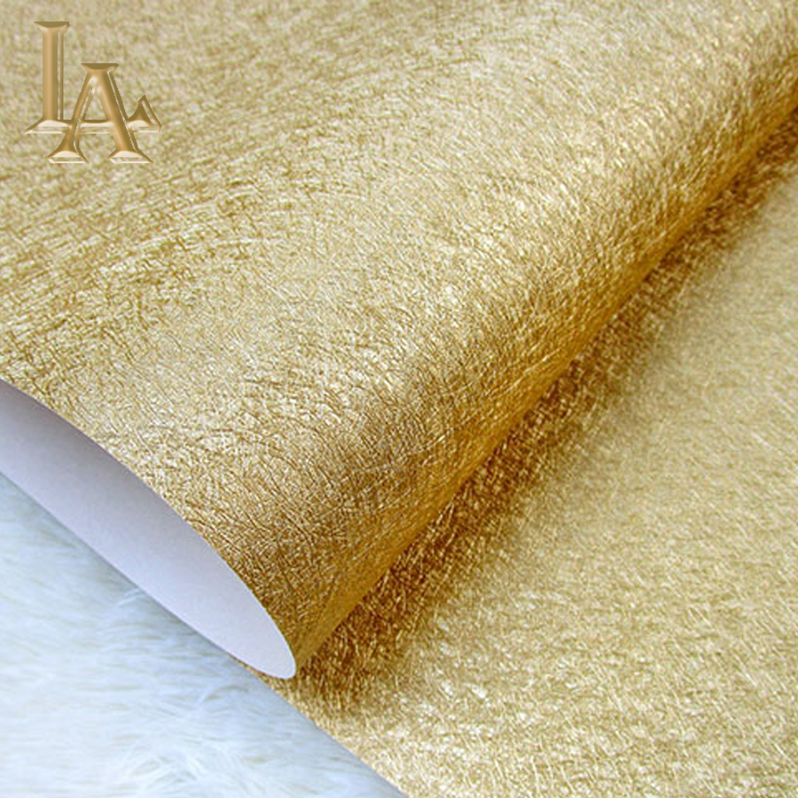 High quality Sliver Gold Solid Color Gold Foil Wallpaper Modern Luxury KTV Entertainment Household Decoration Wall paper Rolls wallet