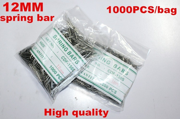 Wholesale 1000PCS / bag High quality watch repair tools & kits 12MM spring bar watch repair parts -041423 | Watchbands
