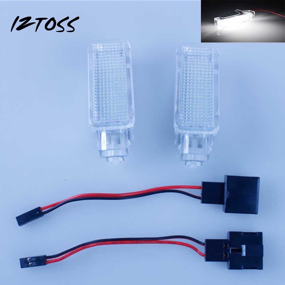 IZTOSS 2PCS LED Footwell Luggage Courtesy Lamp Light Led Interior Light For Audi A2 A3 VW Skoda Seat