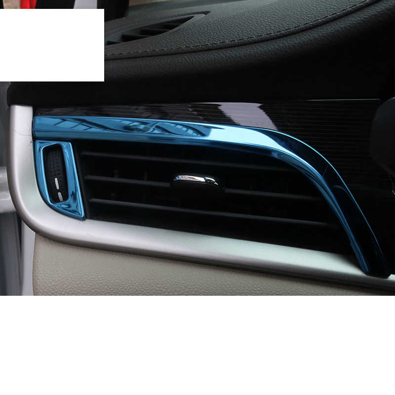 Lsrtw2017 Stainless Steel Car Dashboard Air Vent Frame Trims for Opel Astra K 2015 2016 2017 2018 2019 2020