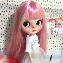 Factory Neo blythe Doll Straight Pink Hair Jointed Body 30cm