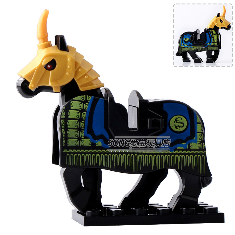 Single Sale Series Xh600 War Horse Battle Steed Medieval Rome Minifig Super Heroes -5291