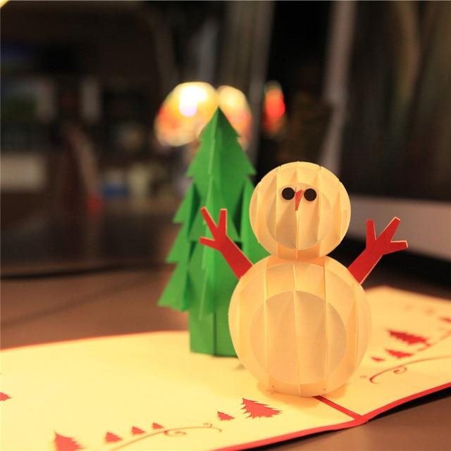 recorte de papel d tarjeta de mueco de nieve y