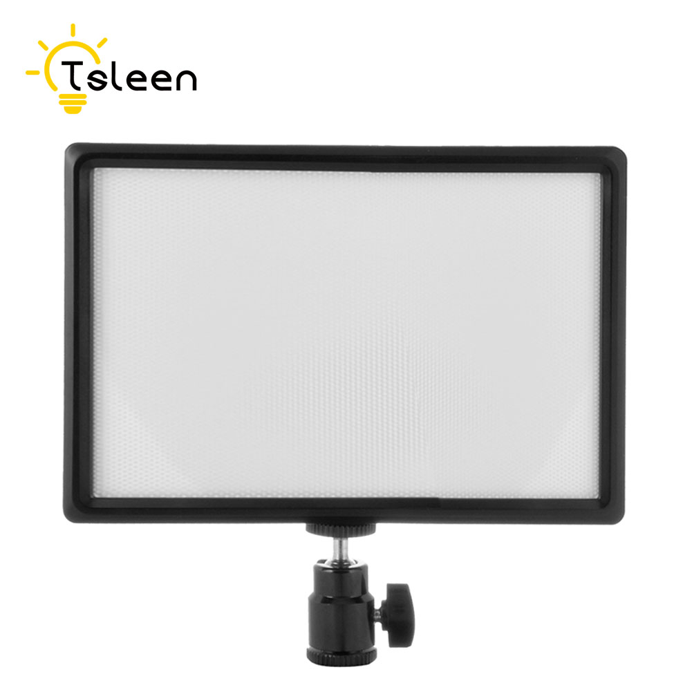 TSLEEN LED Video Light Lamp 980LM 3200K-6200K Hotshoe Dimmable for Canon Nikon DSLR Camera Sony Camcorder Photographic Lighting цена и фото