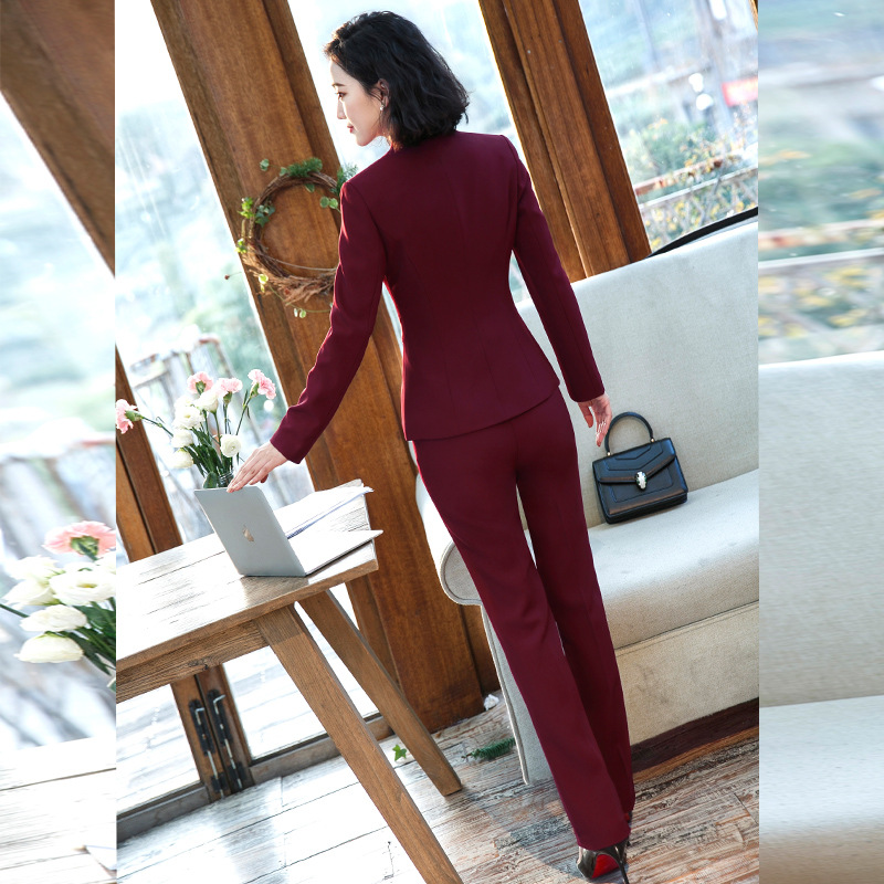 2019 Women's Formal Elegant Blazer and Trousers Suits Office Ladies 2 Piece Suits Work Wear Sets Business Pant Suits for Women