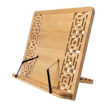 Bambou creux/brillant côté réglable lecture support de livre plateau Page trombones pliable tablette livre de cuisine Portable robuste librairie