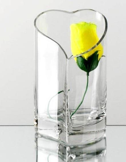 Transparent Glass Vase Fashion Design Heart Style Diy Design Decor Glass Pot Desktop Decoration Home Decoration
