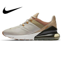 Original New NIKE Air Max 270 Premium Men's Running Shoes Breathable Lace up Sneakers Casual Wear Resistant Cushioning Shoes