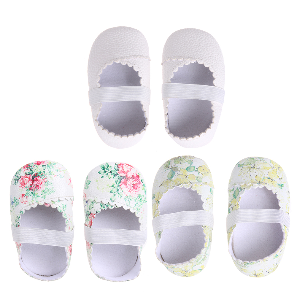 Causal Baby Floral Dance Shoes Princess Party Dance Baby Ballet Shoes Antiskid Soft Sole Baby Moccasins Newborn Crib Girls