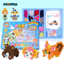 DOLLRYGA 1530 PCS Boxed Magical Bead Solid Refill Pack Water Sticky Beads Pegboard Set Puzzle Toy For Children