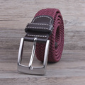 Hongmioo 2016 HIGH quality belts casual braided belt elastic stretch canvas belt with pin buckle designer belts
