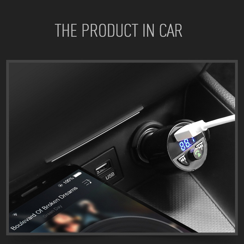 Image 5 - Car Charger Bluetooth MP3 Music Player Support TF Card U Disk MP3 WAV WMA FLAC APE CVC Noise Suppression Auto FM Transmitter-in Car MP3 Players from Automobiles & Motorcycles
