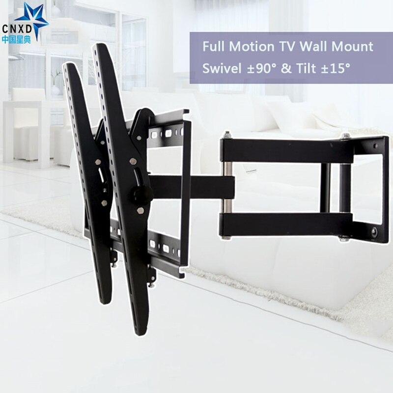 full motion tilt swivel tv bracket tv wall mount led stand holder for led plasma 3d tv
