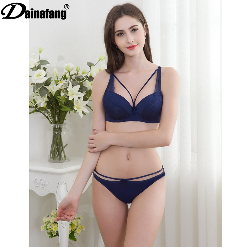 DAINAFANG ABC 2019 sexy lady lace push   bra   hollow hongs underwear skirt French romantic close pants underwear