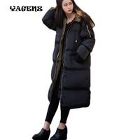 Winter Coat Plus Size 3XL Black Female Padded Jacket Hooded Oversize Cotton Down Jackets Bayan Kaban