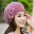 Warm women Beret Hat Cap Winter Hat For Women Hat Skullies and caps High Quality Rabbit Hair Soft Woman Cap Drop Shipping