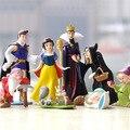 Новый 8 шт./компл. 4-15 см Семь Гномов и Принцесса Белоснежка ПВХ Фигурку Куклы Игрушки Торт Пейзаж Декор День Рождения Подарки для дети