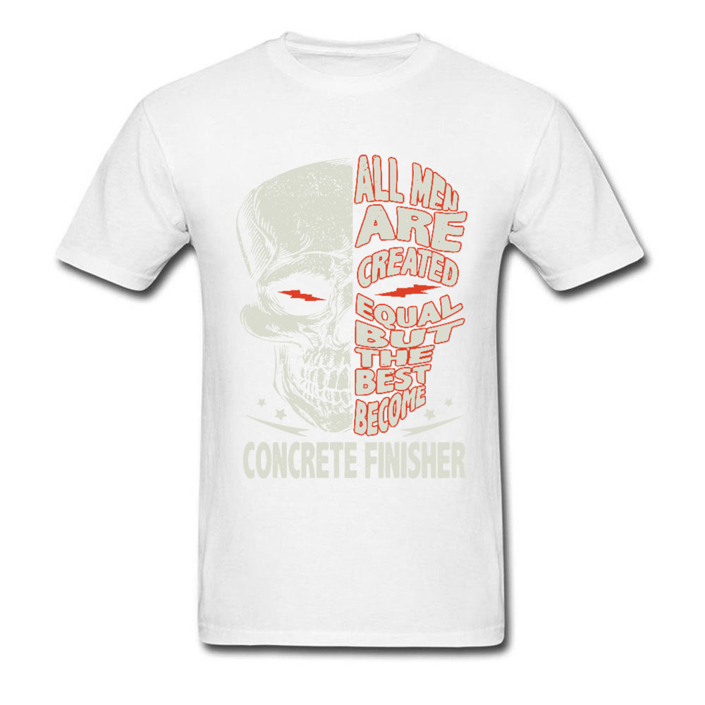Skull-all-men-are-created-equal-but-the-best-become-bike- O Neck T-Shirt Summer Custom Tees Discount 100% Cotton T-shirts Mens Skull-all-men-are-created-equal-but-the-best-become-bike- white