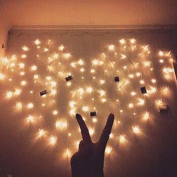 2 M * 1.5 M 220 V EU Plug LED amour rideau lumière amour forme noël guirlande fée chaîne lumière saint valentin décoration