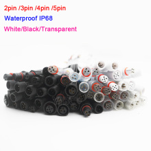 Wholesale 5~50 pairs 2pin 3pin 4pin 5pin Waterproof IP68 Cable Male to Femaleled Connector for LED Strips Light