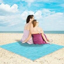 Песок Бесплатная Коврик Одеяло Туристические коврики Открытый Пикник Кемпинг Подушки пляжные ПВХ складной Коврик деревьев 4 цвета