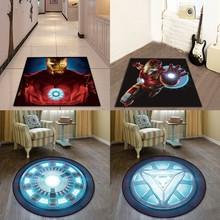 Alfombra redonda americana Batman Superman impresa alfombras suaves alfombras antideslizantes alfombra de ordenador de superhéroe alfombrilla de suelo para niños habitación