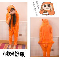 New Japan Anime Himouto Umaru-chan Umaru Doma Onesies Cosplay Costume Woodchuck Sleepwear Cartoon Pajamas Daily Leisure Wear