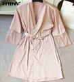 TAINY 2017 new arrival mulheres lace banho de sauna casa de banho bathrobemini roupões vestes roupa de dormir sexy seção fina
