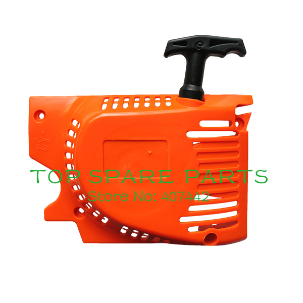 45cc 52cc 58cc chain saw parts,single Recoil pull starter , chainsaw spares for Chinese chain saw chainsaw easy starter with two spring recoil starter pulley fits 45cc 52cc 58cc chainsaw replacement parts