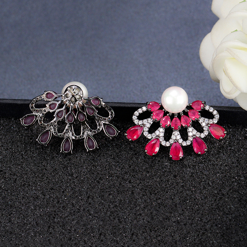 Ruby Red Stud Earrings4