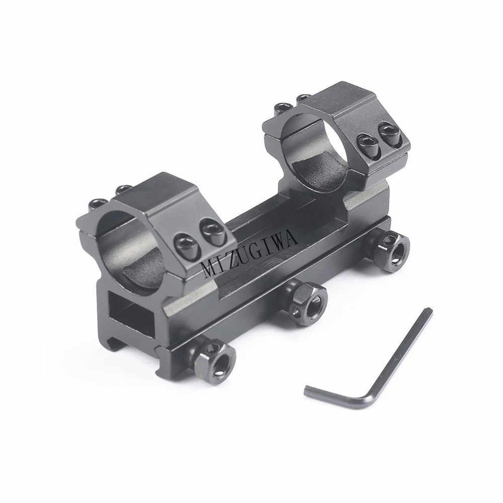 Heavy Duty Een Stuk Platte Top 25.4mm Dual Ringen Rifle Scope Mount Picatiiny Zwaluwstaart Adapter 20mm Weaver Rail