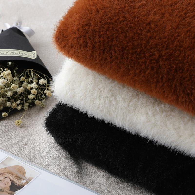 Des Automne Tcyeek Femmes Manteaux black Feminino Vêtements Mode Lwl758 Coréenne 2019 Manteau Grande Taille De D'hiver Casaco Veste Beige camel Courts Dames Tricoté Fqw7xXqCr