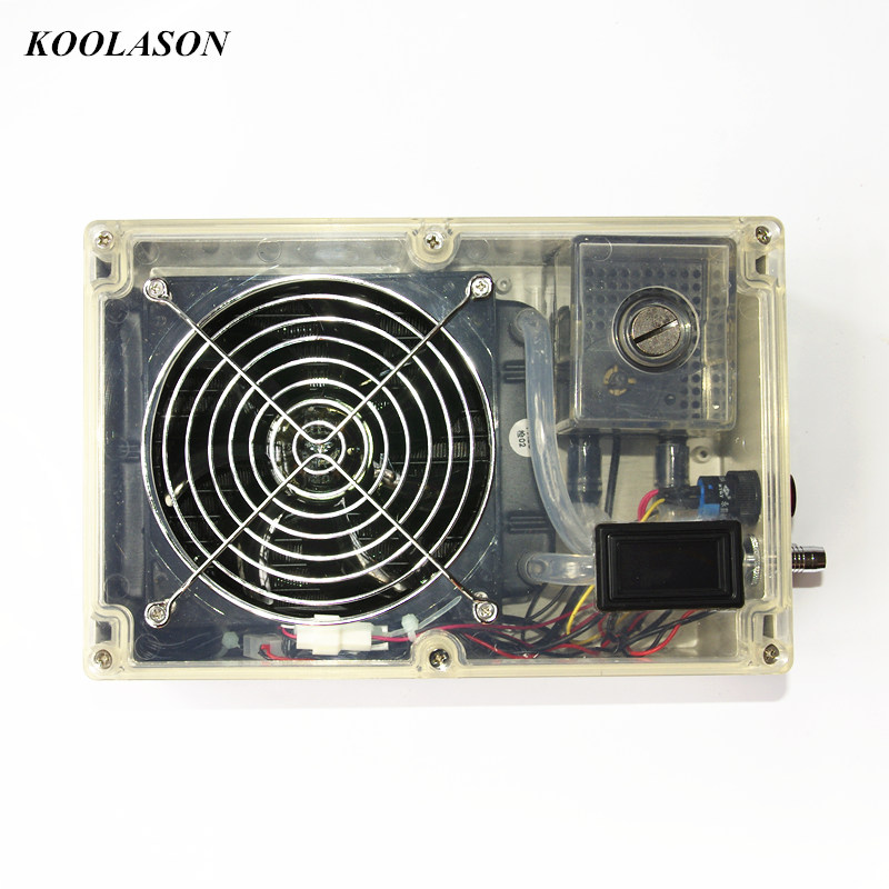 DIY laptop notebook water cooling system cooler large flow radiator water tank pumps fan Integrated type Transparent shell 5pcs lot pure copper broken groove memory mos radiator fin raspberry pi chip notebook radiator 14 14 4 0mm copper heatsink
