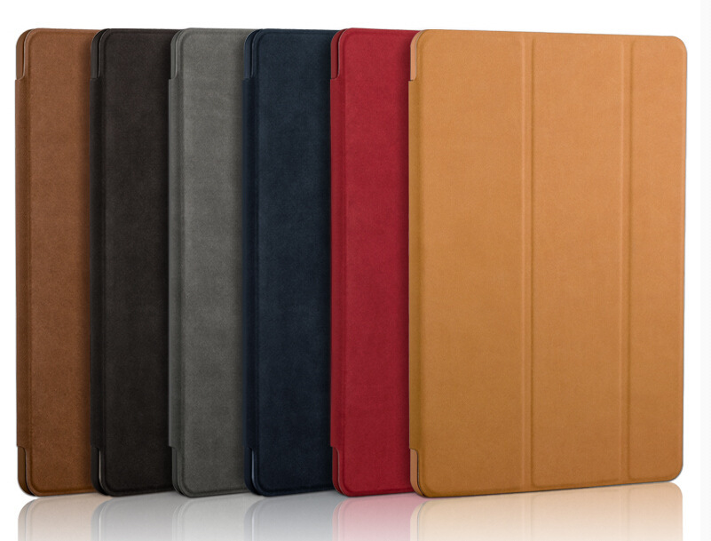 Ultra Thin Stand Design Leather Case For iPad 6 Colorful Flip Smart Cover Smartcover for iPad Air 2 flip left and right stand pu leather case cover for blu vivo air