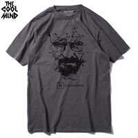 CXT03 C1 Top Quality COTTON O Neck Heisenberg Men Tshirt Short Sleeve Print Casual Breaking Bad