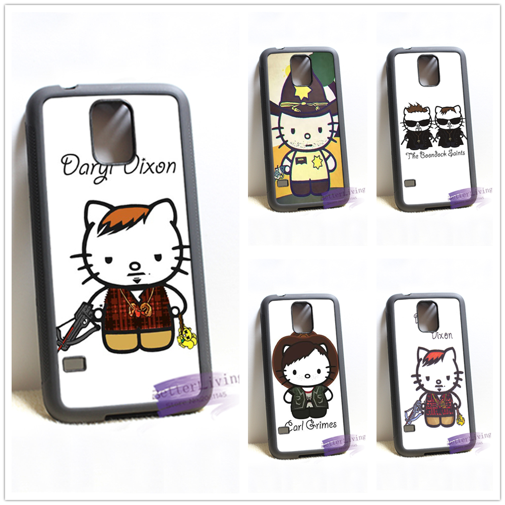 Daryl Dixon hello kitty fashion cell phone case cover for samsung galaxy S3 S4 S5 S6 edge S7 edge Note 3 4 5 #R228