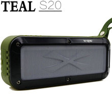 TEAL Outdoor Bluetooth Speaker, Portable Fm Radio Waterproof Wireless NFC Bluetooth 4.0 Loud Dual Speakers System Rechargeable