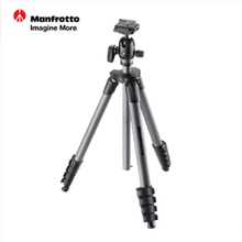 Manfrotto MKCOMPACTADV-BK Aluminum Tripod Kit Professional Tripod For SLR Video Camera+3D Head With Quick Release Plate Advanced
