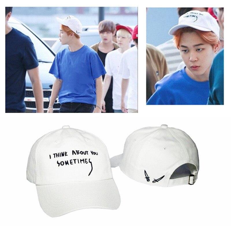 KPOP BTS A.R.M.Y Bangtan Boys Jimin Album Hat K-POP Design Classic Embroidery Pink Baseball Cap Hip-hop Cap XHM136 lee min ho album sing for you release date 2014 10 13 kpop