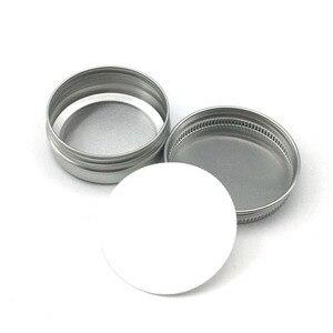Image 1 - 30 ML / 30G / 1 FLOZ אלומיניום צנצנת כסף צנצנת קרם אבקת ג ל שימוש הטוב ביותר קוסמטי בקבוקים 8.5G אלומיניום יכול פח