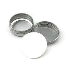 30 ML / 30G / 1 uncji słoik aluminiowy srebrny słoik do śmietana w proszku, w granulkach lub żel korzystać z najlepszych butelki kosmetyczne 8.5G aluminium puszka