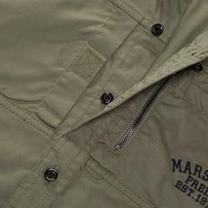 Image 5 - 프레드 마샬 2019 패션 밀리터리 셔츠 긴 소매 멀티 포켓 캐주얼 셔츠 브랜드 의류 육군 녹색 Camisa Masculina 117