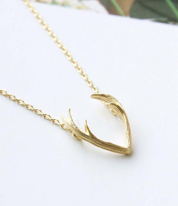 Hfarich New Fashion Deer Horn Antler Necklaces