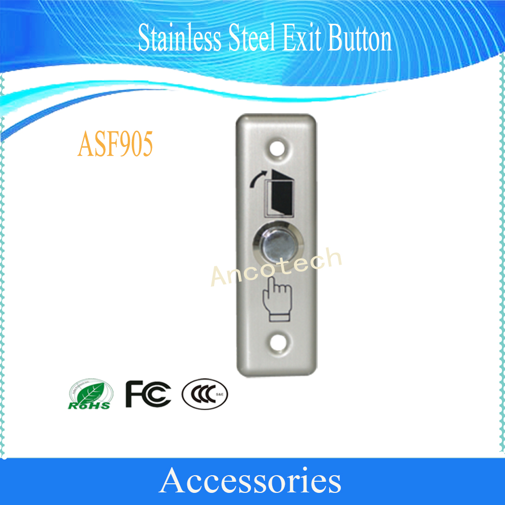 Original DAHUA Free Shipping Access Control Accessories Stainless Steel Exit Button DH ASF905 access control buttons buttons button exit - title=
