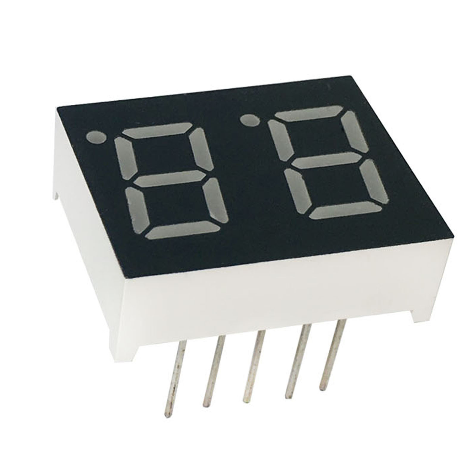 MCIGICM 100pcs 7 Segment Common Cathode 2 Bit Digital Tube 0.4