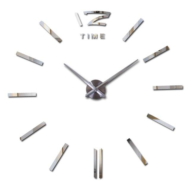 new home decorations big wall clock living room quartz Metal modern design decorative wall stickers clocks watch