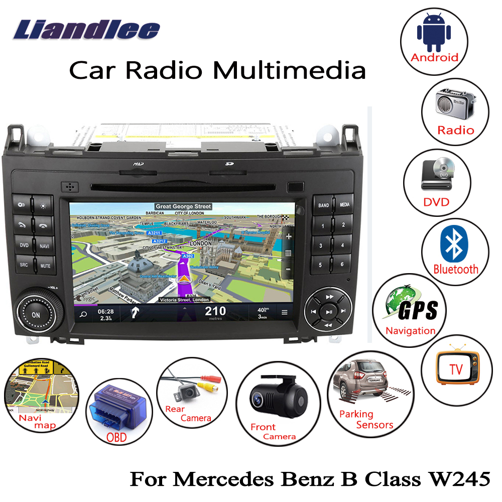 Liandlee For Mercedes Benz B Class W245 2005~2011 Android Car Radio Navigation Navi Maps CD DVD Player GPS Camera OBD TV Screen