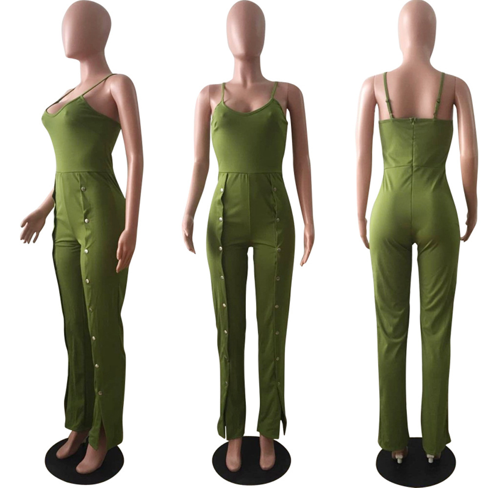 Plus Size Jumpsuits Straight And Rompers For Women Time-limited Polyester Casual Bodycon Jumpsuit 2018 Hot Sexy