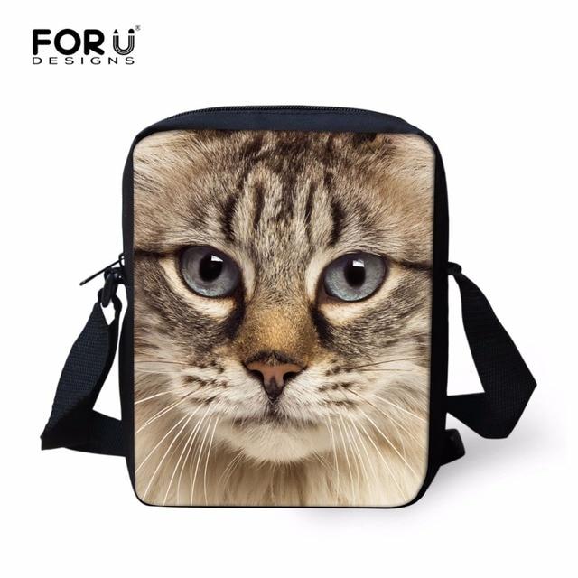 6da203d3f6c0 FORUDESIGNS Cute Cat Messenger Bags for Women Kawaii Zoo Printing Kids Crossbody  Bags Children Mini Shoulder Bag Bimba Bags